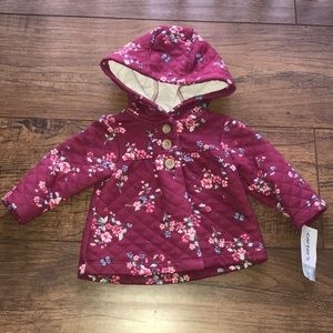 Brand New 3mo Carter's baby girl coat